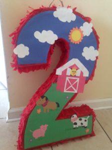 diy farm party piñata