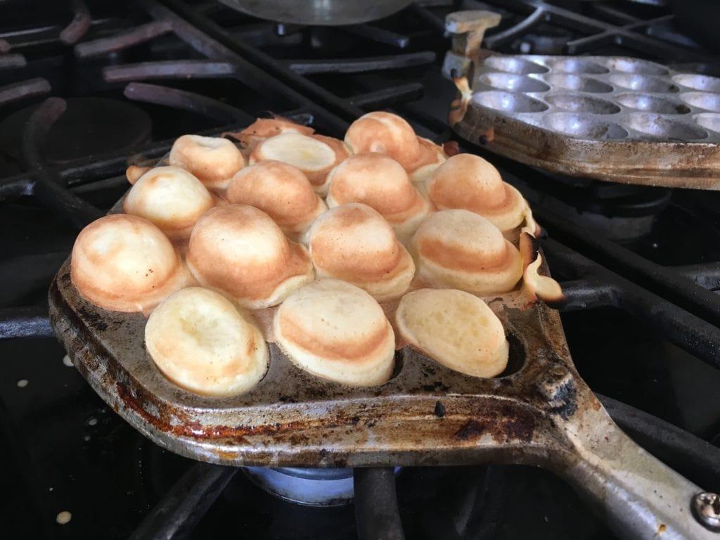 cooked Hong Kong egg waffles