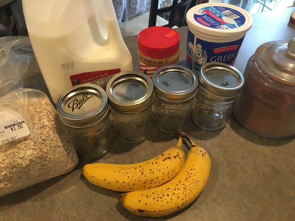 no cook refrigerator oatmeal ingredients