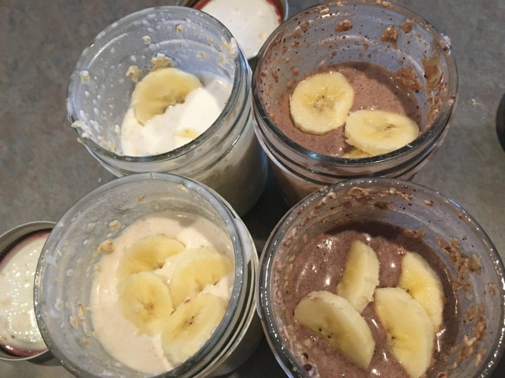 no cook refrigerator oatmeal fruit add