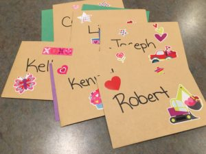 making your own Valentine's card envelopes