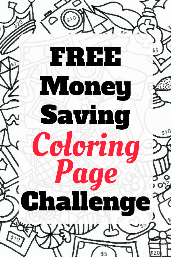 Fun Money Saving Coloring Page Challenge | Lucky Mojito