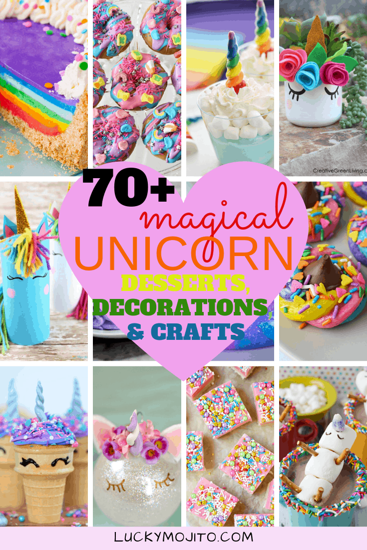 70 Magical Diy Unicorn Crafts Decorations Desserts More Lucky